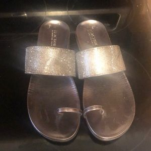 Kenneth Cole blingy metallic sandals